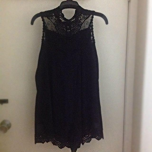 Black Play suit, Size 8