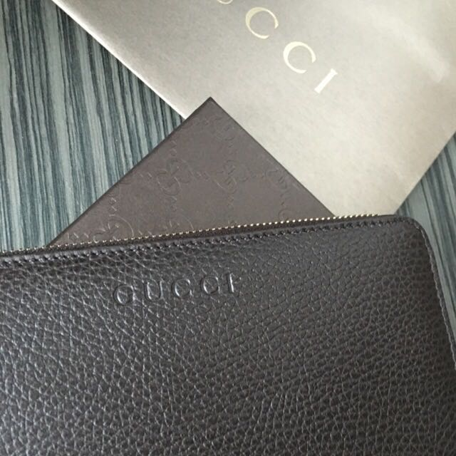 77df4e4a996 BN Gucci soho leather zip wallet - champagne
