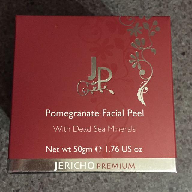 BNIB Jericho Premium Pomegranate Facial Peel with Dead Sea Minerals 50gm Net wt