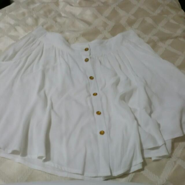 BRAND NEW White Paperscissors Skirt Size 8