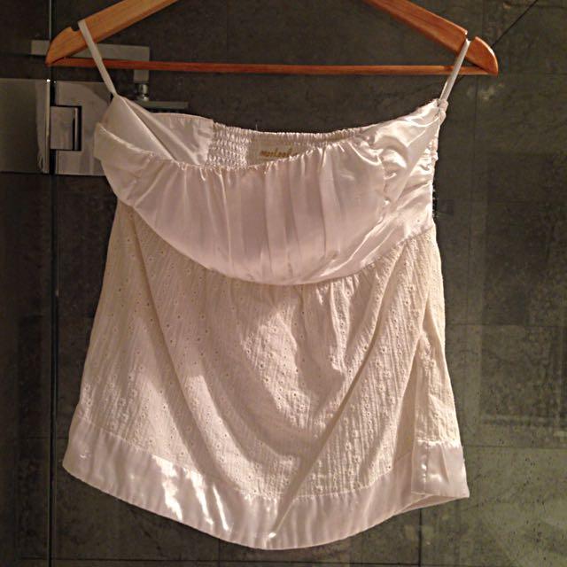 Carolina Strapless Top - White, Size 8