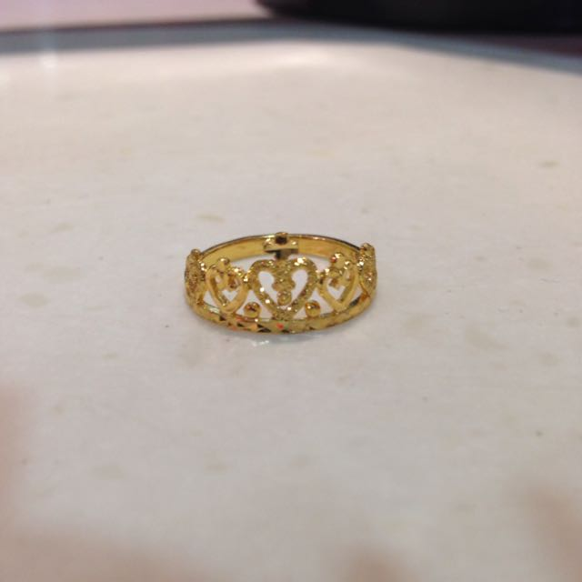 Crown Ring 916 Gold Luxury on Carousell