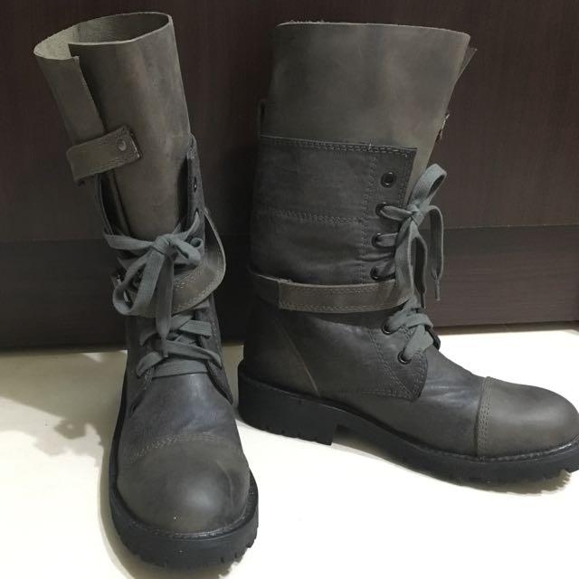 香港Diet綁帶軍靴