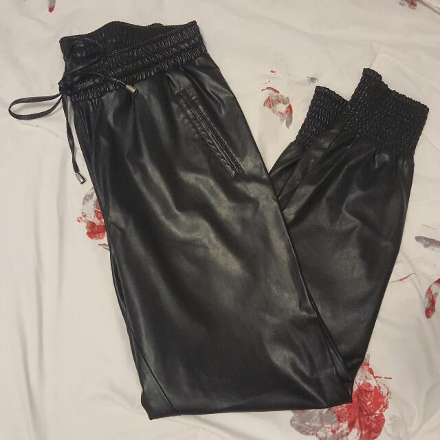 F21 Faux Leather Joggers