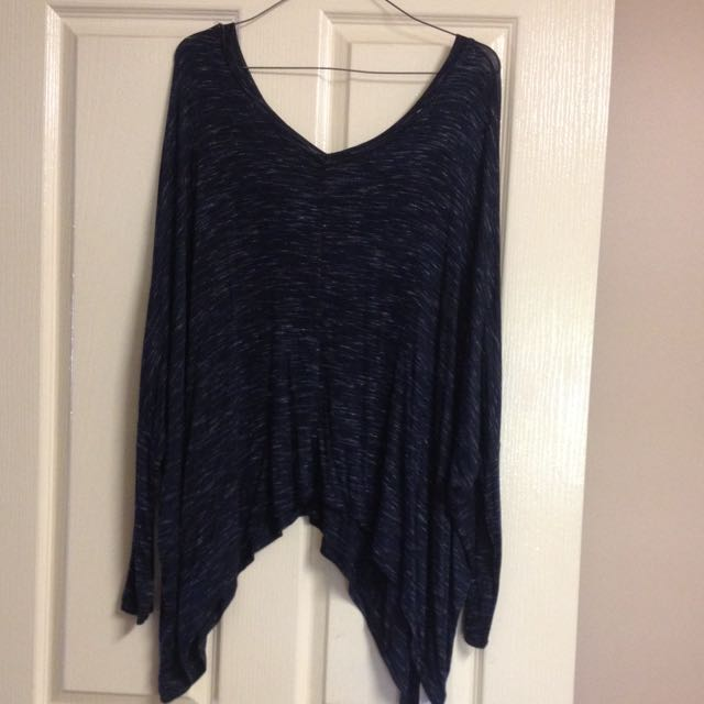 Flowing Navy Top - Cotton On