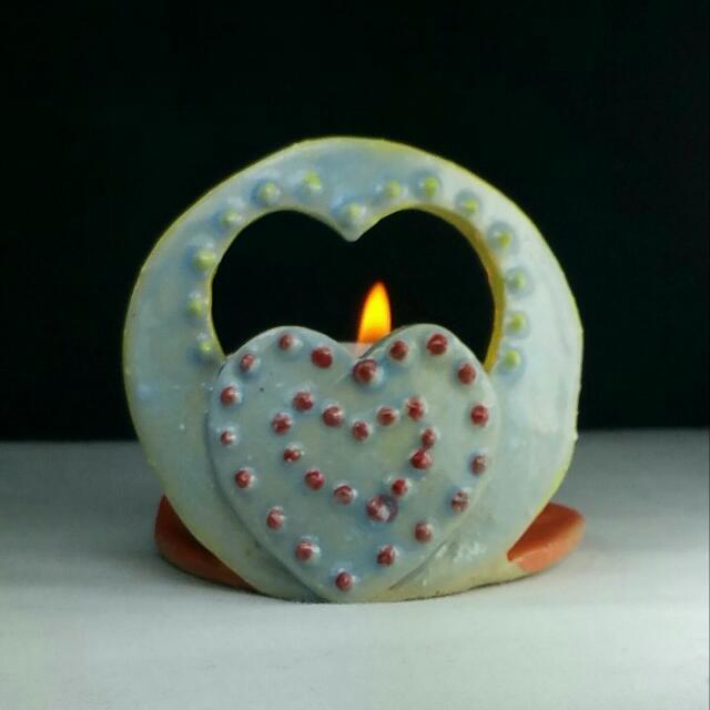 Handmade tea light candle incense ring holder. Made in Melbourne