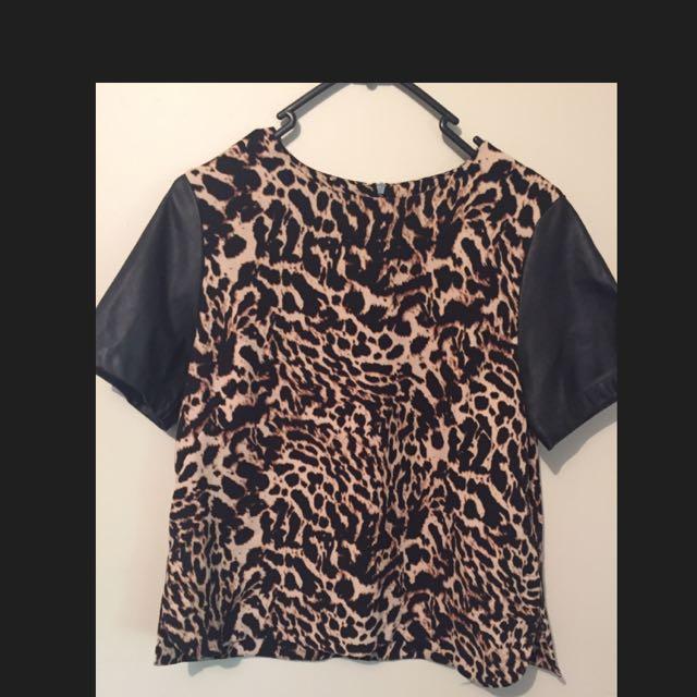 H&M Leopard Top Euro Size 36