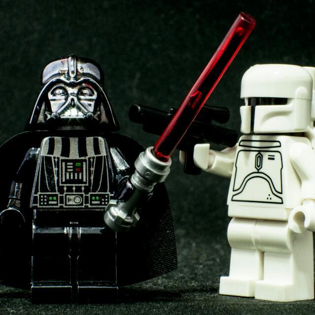 Lego Starwars Chrome Vader And White Boba Fett Toys Games On