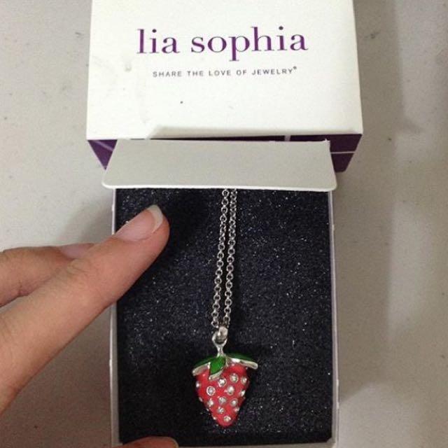 Lia Sophia Strawberry Necklace