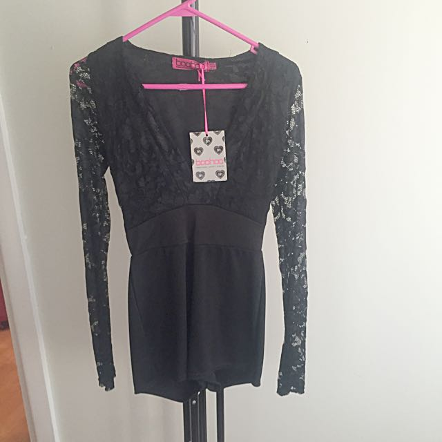 Long Sleeve Lace Playsuit
