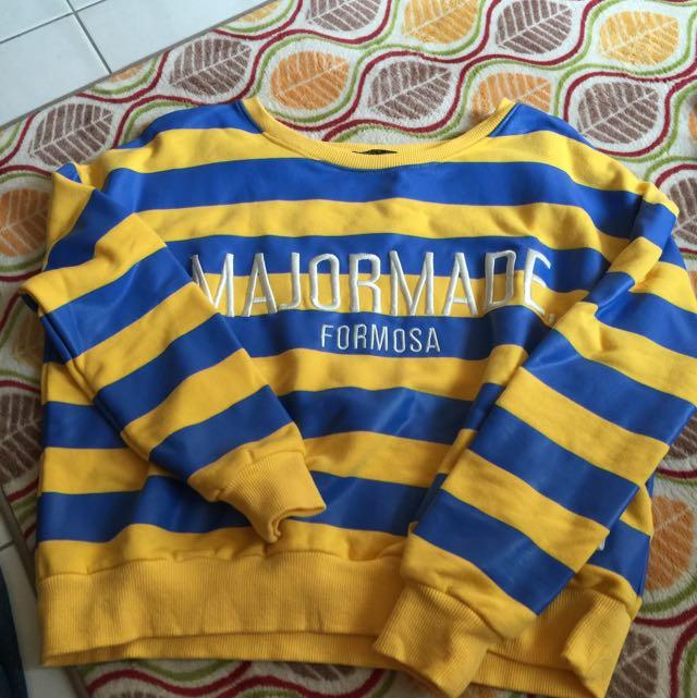 Major Made Mjr 黃藍條紋