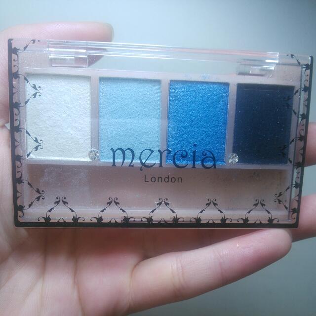mereia寧靜漸層藍四色眼影盤#大掃除五折