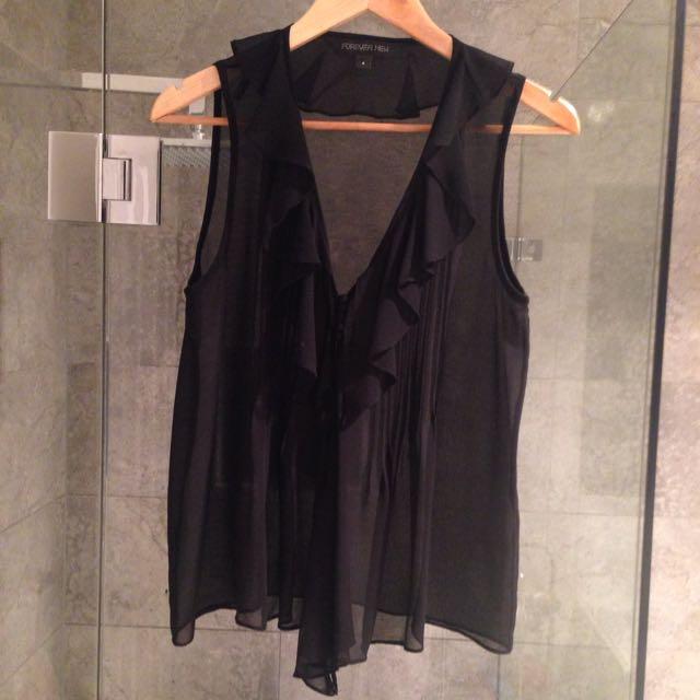 Mi Amore Top - Black, Size 8