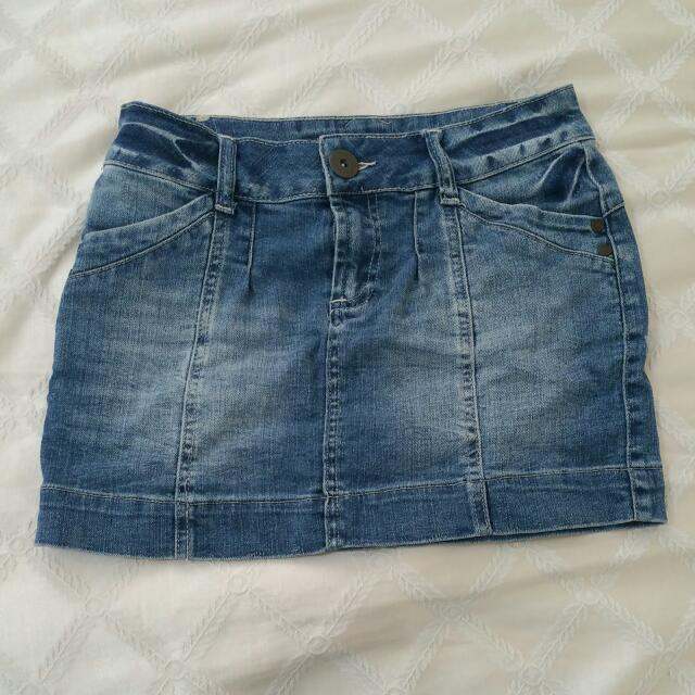 Mini Denim Skirt Size 8