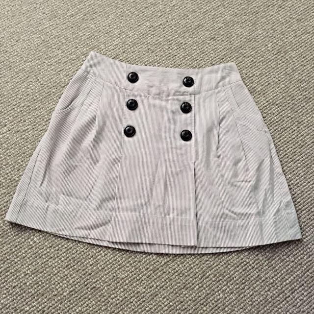 Pleated Striped Ben Sherman Skirt