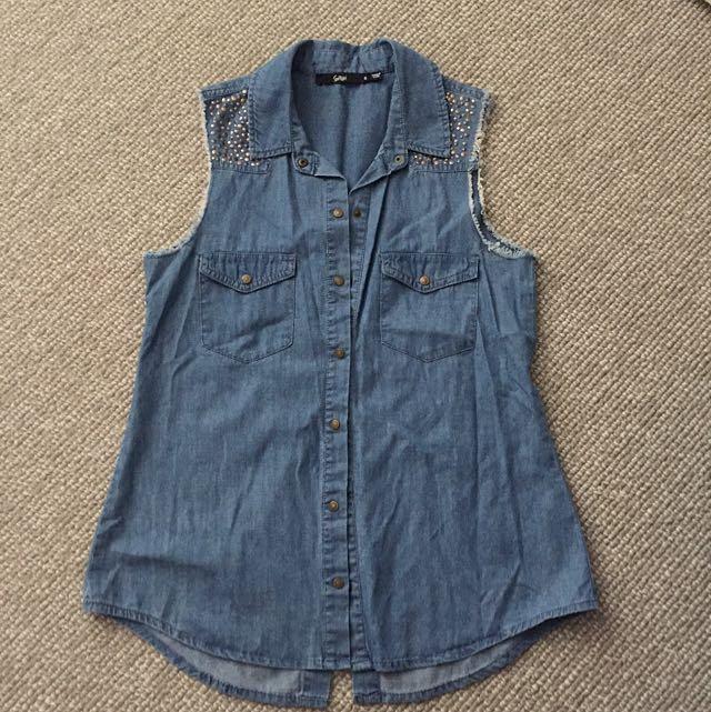 Sportsgirl Denim Style Shirt