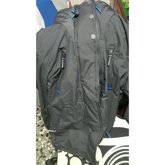 台灣專櫃購入 SUPERDRY 極度乾燥藍色外套 M號(近全新)
