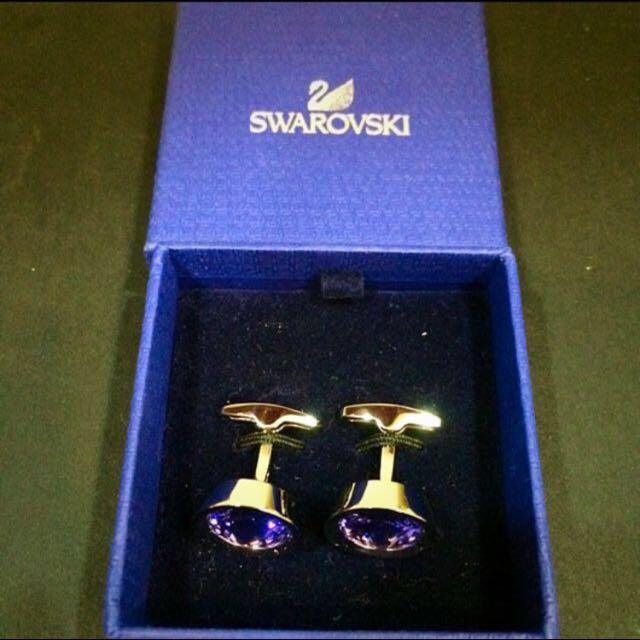 SWAROVZKI grape Cufflings (ORIGINAL)