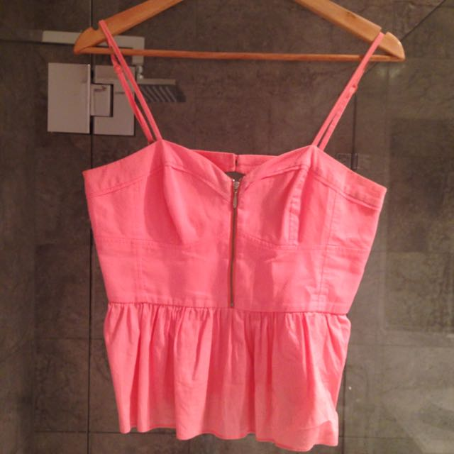 Wild Birdy Top - Coral, Size 10