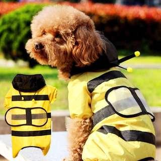 小蜜蜂雨衣 狗狗雨衣 外出雨衣 可愛雨衣