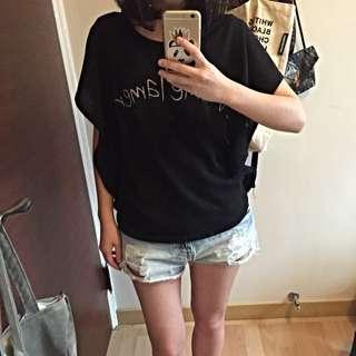 (免運)韓版織針罩衫 黑 罩衫