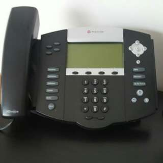 Polycon VOIP Phones Perfect Working Order. 5 Large Phones