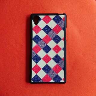 手機殼 幾近全新 軟殼 Sony Z1 時尚格紋