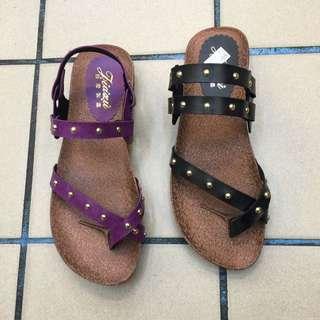平底 兩用 夾角 涼拖鞋