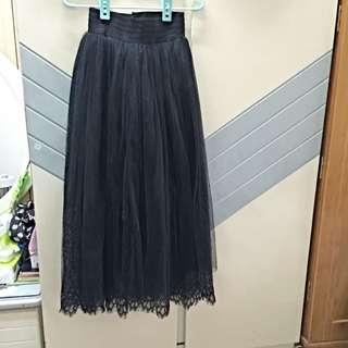 雙層蕾絲 澎澎裙 紗裙。質感超好。 全新。