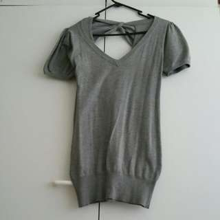 Grey Winter Top/Dress Size M