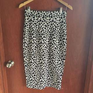 Leopard Print Pencil Skirt