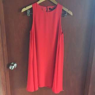 Ninie Swing Red Dress Size 8-10 Brand New With Tags