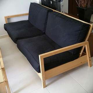 Lliberg 3 Seater Sofa Bed Pine Wood Very Good Condition.Free Delivery