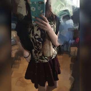 卯釘百褶裙