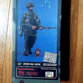 QUICK SALE - $25 - 1/15 Scale. Original And Rare. 120mm British Para Sniper. WWII Velinden Resin Figure Model Kit. (Revised)