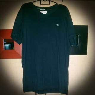 Authentic Abercombie & Fitch V Neck Muscle T (Navy Blue)  Size XXL