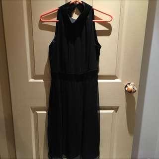 (降價)✨✨雪紡削肩長洋裝