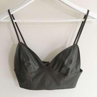 Bardot Leather Crop / Bralette