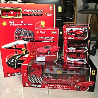 Shell Ferrari - Whole Set Only