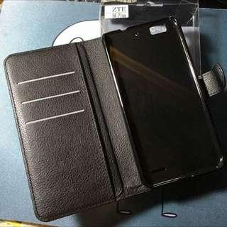 (待付款)黑色協枝紋皮套 專用 中興 ZTE Blade S6 plus 5.5 吋 皮套 可立式保護套