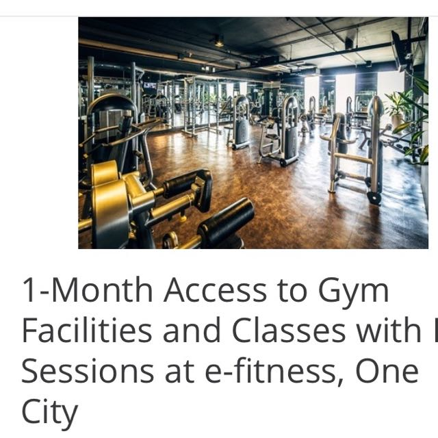 1-Month Access To E-Fitness ONE CITY SKYPARK
