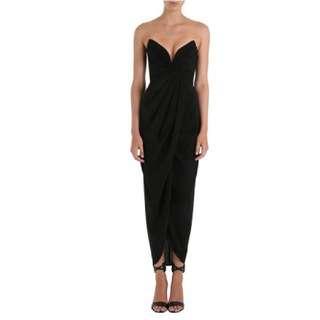 Zimmerman Petal Twist Silk Long Dress