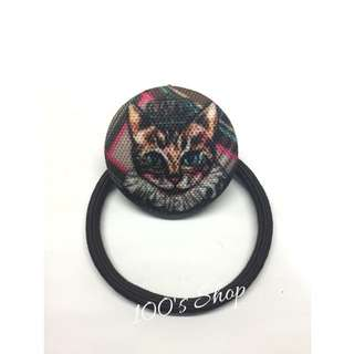 (全新)貓咪質感髮圈