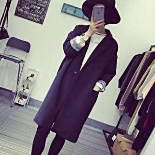 韓國 訂製 西裝 外套 雪紡 OL 寬鬆 Oversize 襯衫 風衣 顯瘦
