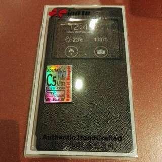 Sony C5 Ultra Black Window Flip Case