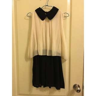 雙層 雪紡 洋裝