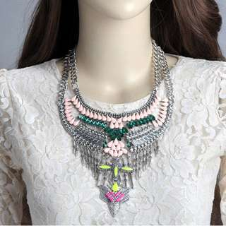 (NEW)F21 Decorated Tassel Necklace