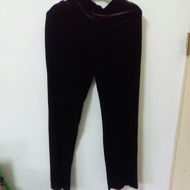 絲絨長褲2色可選