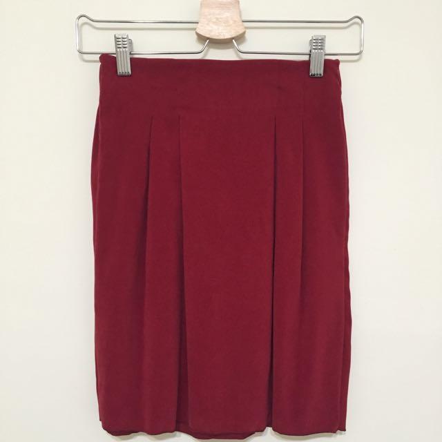 全新⭐️紅色窄裙