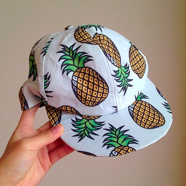 全新!鳳梨🍍鴨舌帽